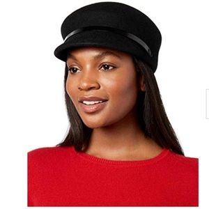 ❤️Ninewest Black Wool Newsboy Hat